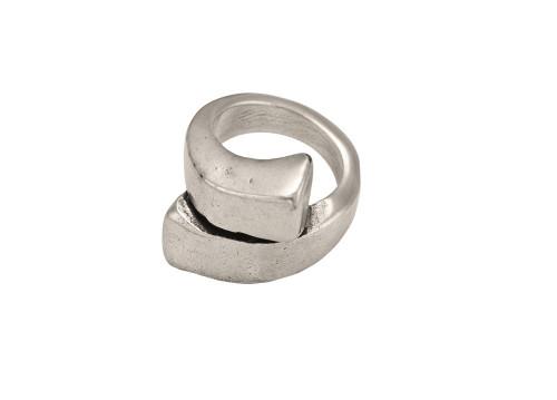 Silvery-Locks Ring Size M - UNO de 50