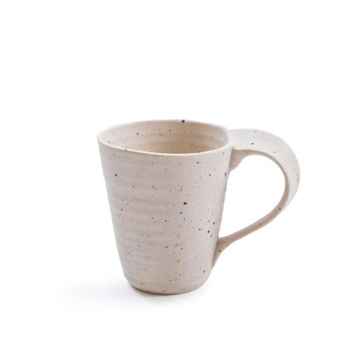 Ribbed Ceramic Speckled Coffee Mug by Sugarboo Designs
