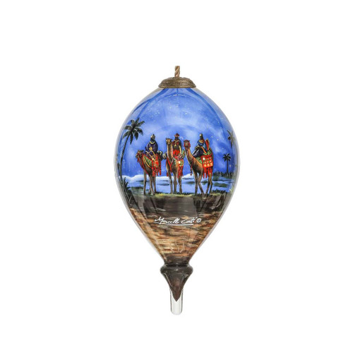 Inner Beauty Gifts Holy Family Hand Painted Glass Ornament