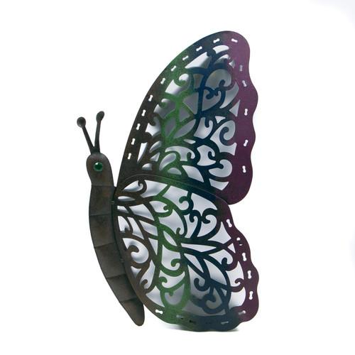 """Garden Meadow 15""""H Solar Lighted Metal Butterflies"""