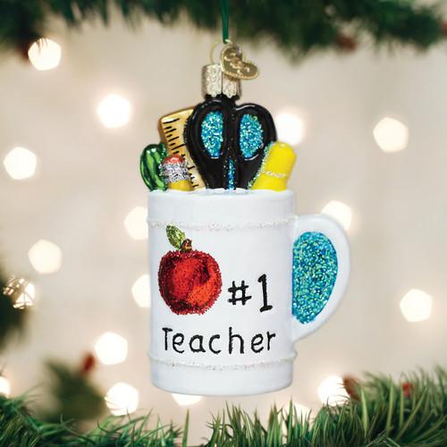 Old World Christmas Best Teacher Mug