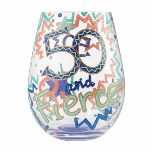 Lolita Stemless Wine Glass 50 and Fierce by ENESCO