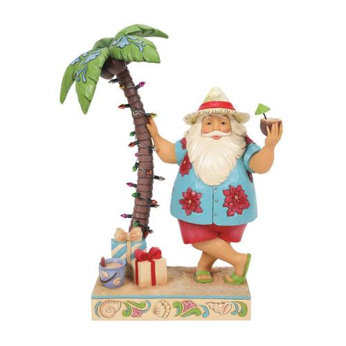 Jim Shore Heartwood Creek Figurine Santa By Palm Tree by ENESCO