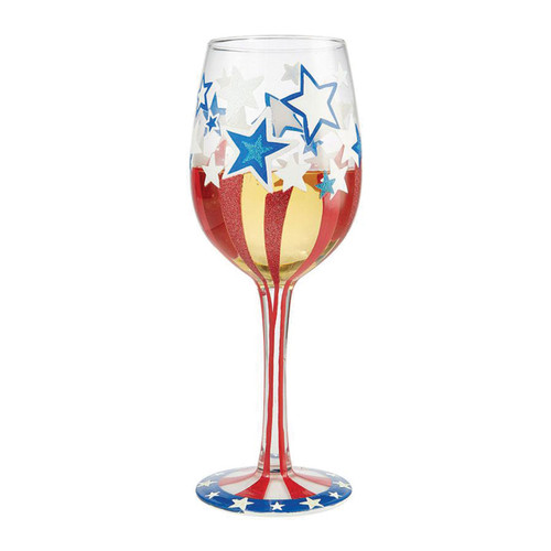 Lolita Wine Glass Land of the Free by ENESCO