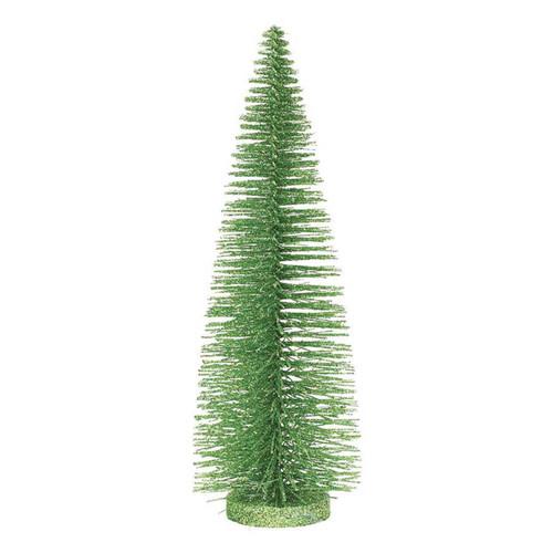 Xmas Basics 14 Inch Bright Green Glitter Tree by ENESCO