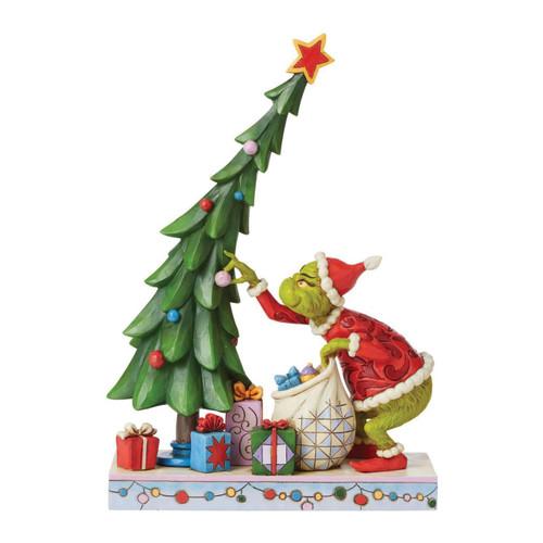 Jim Shore Heartwood Creek Figurine Grinch Un-decorating Tree by ENESCO
