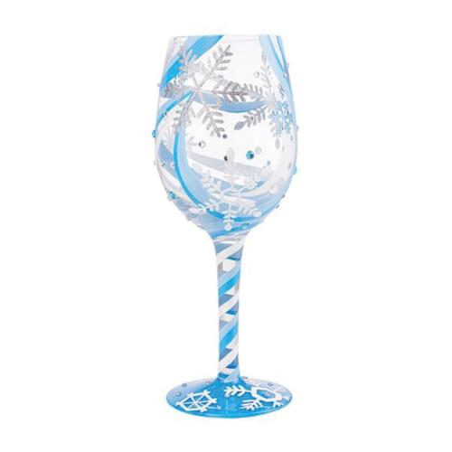 Lolita Wine Glass Snowflake Dreams by ENESCO
