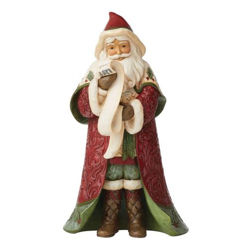 Jim Shore Heartwood Creek Figurine Victorian Santa with List by ENESCO