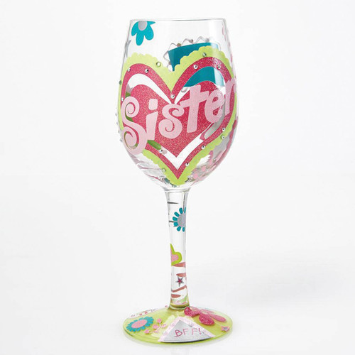 Lolita Wine Glass Sister My Bff by ENESCO