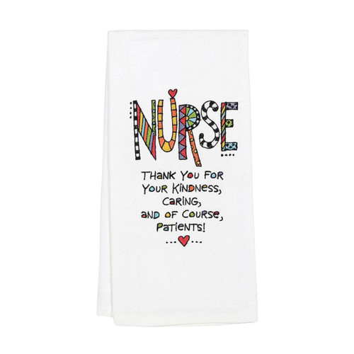 Our Name Is Mud Cuppa Tea Towel Nurse by ENESCO