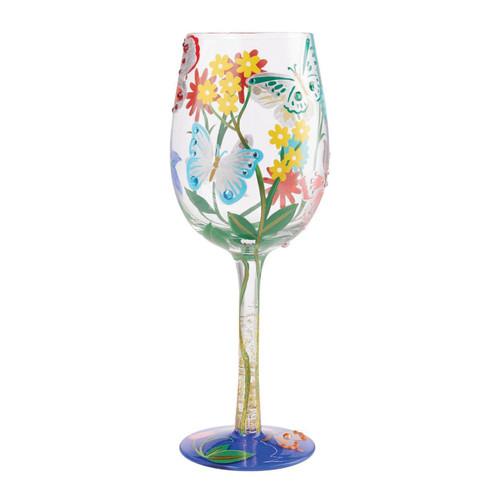 Lolita Wine Glass Bejeweled Butterfly by ENESCO