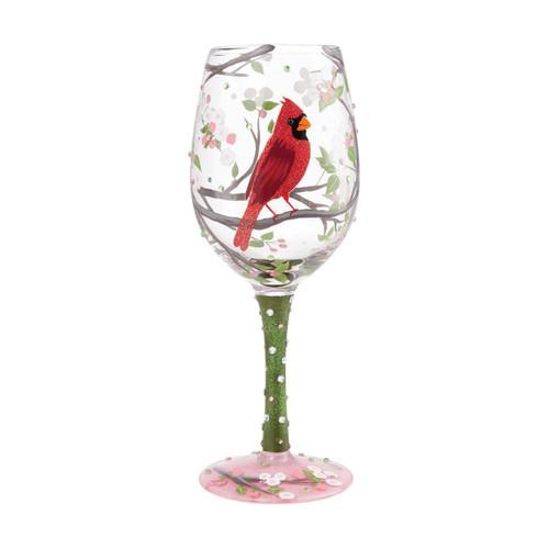 Lolita Wine Glass Cardinal Beauty by ENESCO