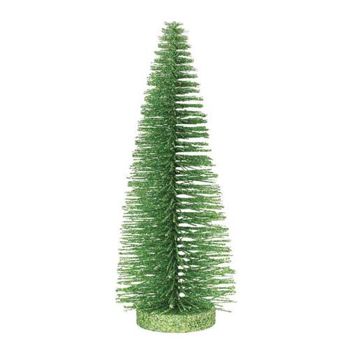 Xmas Basics 10 in. Bright Green Glitter Tree by ENESCO