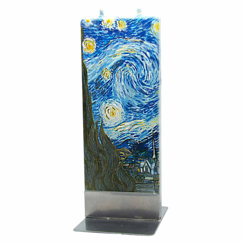 Van Gogh The Stary Night Decorative Flat Candle by Flatyz Candles