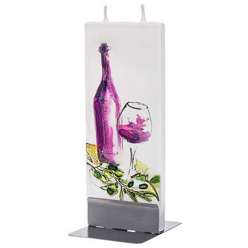 Wine with Olives Decorative Flat Candle by Flatyz Candles