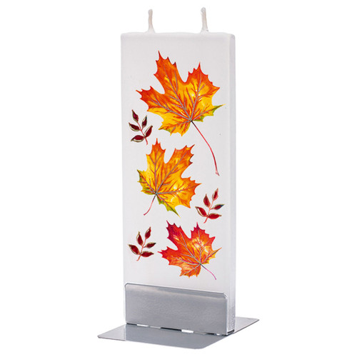Fall Leaves Decorative Flat Candle by Flatyz Candles
