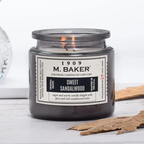 Sweet Sandalwood 14 oz. M. Baker Large Jar Colonial Candle
