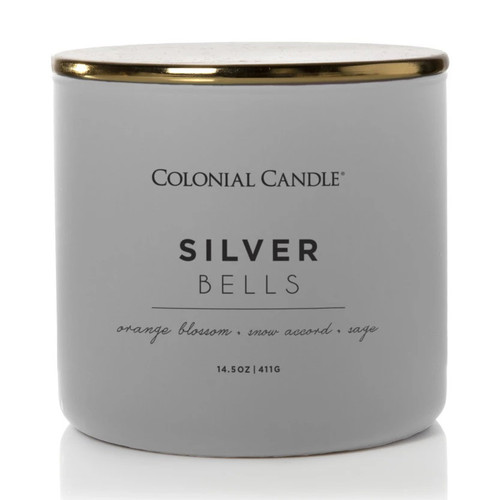 Silver Bells 14.5 oz. Pop of Color Trend Collection Colonial Candle