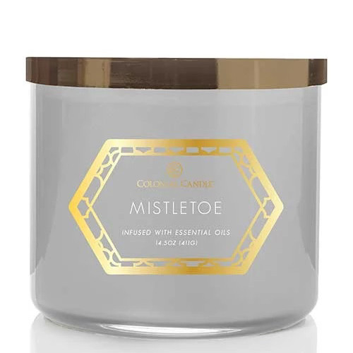 Mistletoe 14.5 oz. Holiday Luxe Trend Collection Colonial Candle