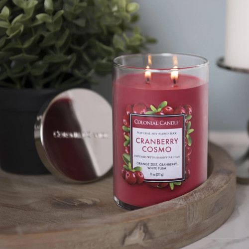 Cranberry Cosmo 11 oz. Classic Cylinder Jar Colonial Candle