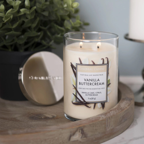 Vanilla Buttercream 11 oz. Classic Cylinder Jar Colonial Candle