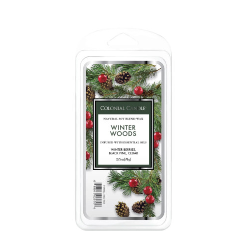 Winter Woods 2.75 oz. Classic  Wax Melts Colonial Candle