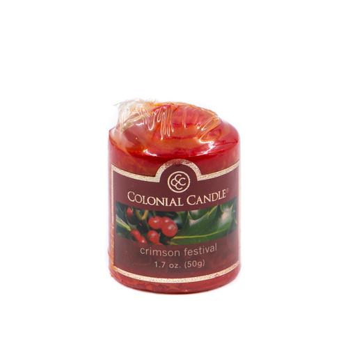 Crimson Festival 1.7 oz. Votive Colonial Candle