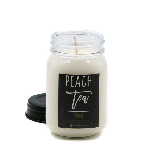 Peach Tea 13 oz. Mason Jar Candle by Milkhouse Candle Creamery