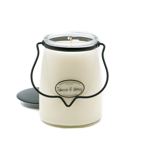 Tobacco & Honey 22 oz. Butter Jar Candle by Milkhouse Candle Creamery