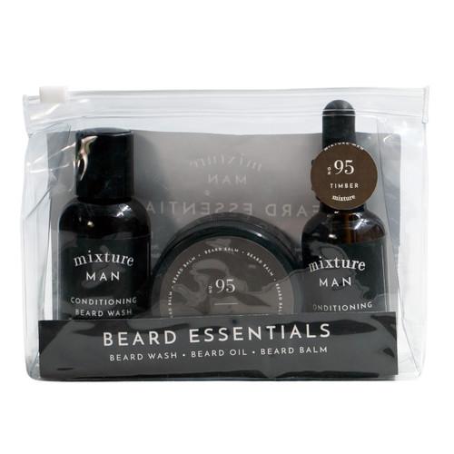 No. 95 Timber Mixture Man Beard Essentials Gift Set by Mixture