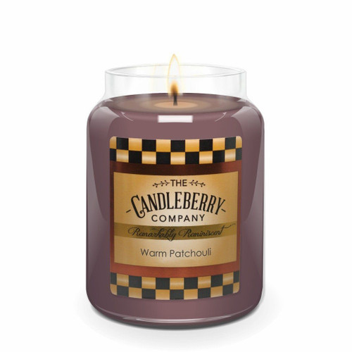 Warm Patchouli  26 oz. Large Jar by Candleberry Candle