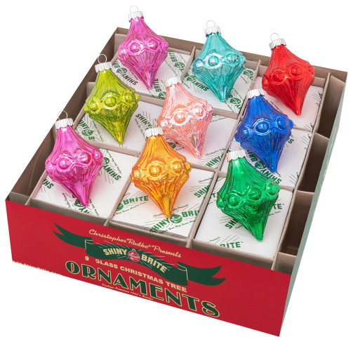 """Christmas Confetti 9 Count 2.5"""" Shapes by Christopher Radko"""