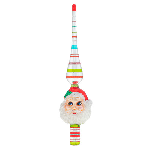"Festive Fete 11.5"" Santa Finial by Christopher Radko"