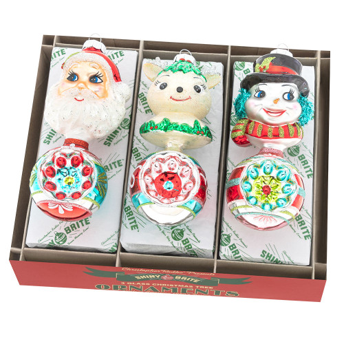 """Festive Fete 3 Count 5.5"""" Figure Rounds by Christopher Radko"""