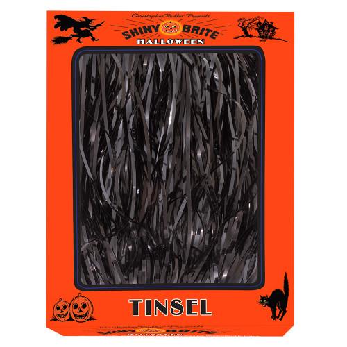 "Halloween Strand 18"" Black Tinsel Icicles by Christopher Radko"