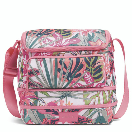 ReActive Expandable Cooler Rain Forest Canopy Coral by Vera Bradley