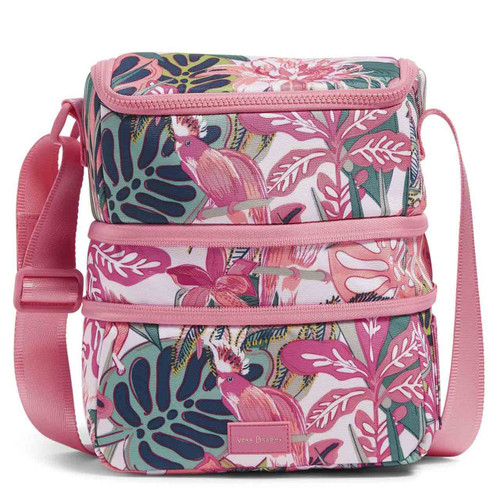 ReActive Expandable Lunch Cooler Rain Forest Canopy Coral By Vera Bradley