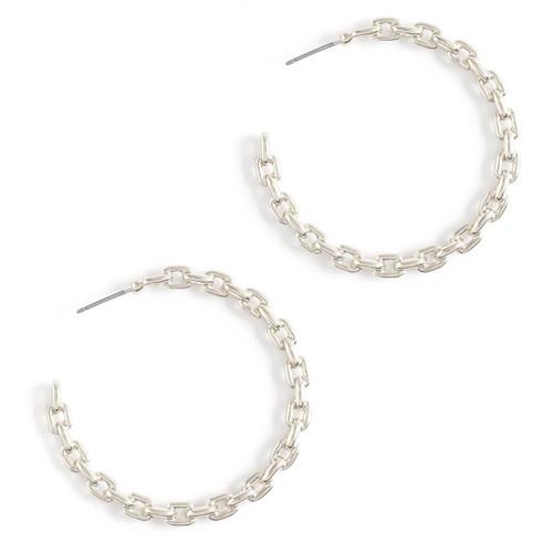 Earrings - Chain link hoop (Silver) by Splendid Iris