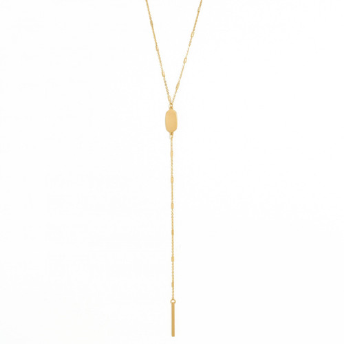 Necklace - Delicate muted Y (Gold) by Splendid Iris
