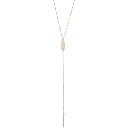 Necklace - Delicate muted Y (Silver) by Splendid Iris