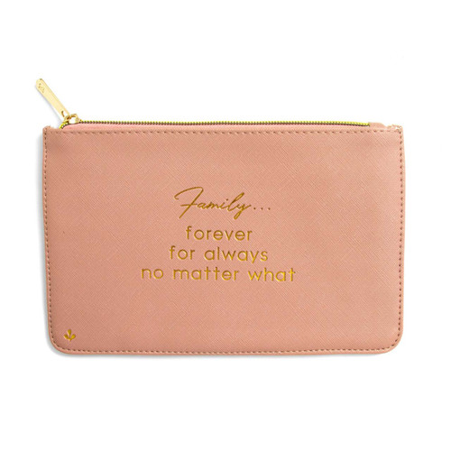 Zipper Pouch - Family quote (Rose) by Splendid Iris