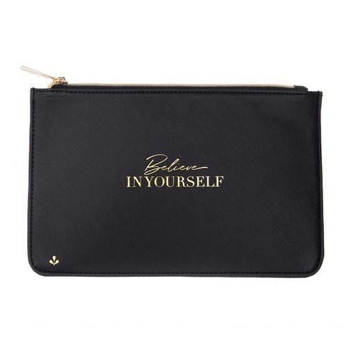 Zipper Pouch - Believe in yourself (Black) by Splendid Iris