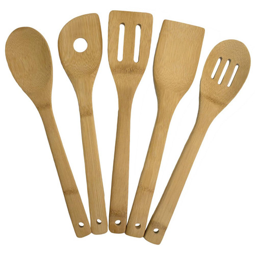 5-Piece Bamboo Cooking Utensil Set by Totally Bamboo