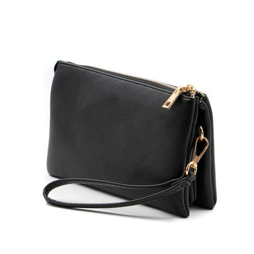 Riley Crossbody in Black by Jen & Co.