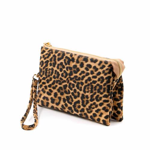 Riley Crossbody in Leopard and Mustard by Jen & Co.