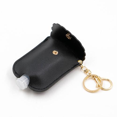 Black Scalloped Hand Sanitizer Caddy by Jen & Co.