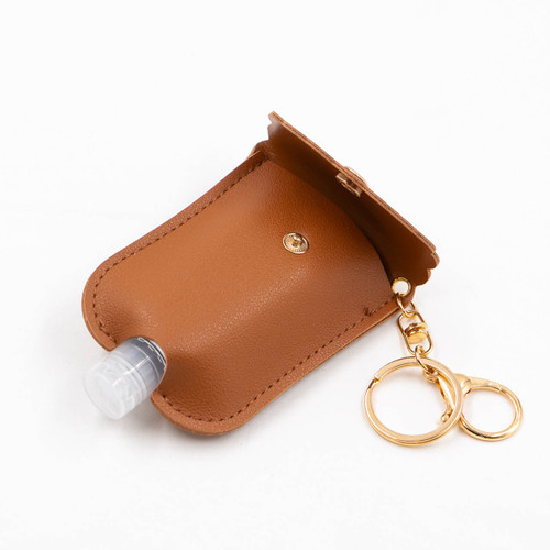 Brown Scalloped Hand Sanitizer Caddy by Jen & Co.