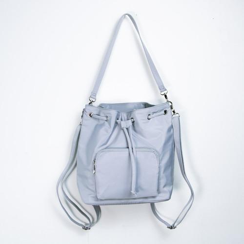 Sac Bag Light Grey 3in1 Nylon Bag Backpack/Shoulder Bag/Crossbody by Caracol