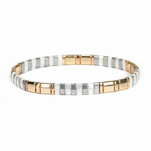 Miyuki Tila Julia Premium Stretch Bracelet by Splendid Iris
