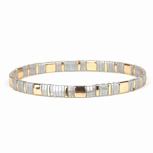 Miyuki Tila Nora Premium Stretch Bracelet by Splendid Iris